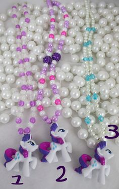 My Little Pony Friendship is Magic Necklace Rarity PICK by deastar, $20.00