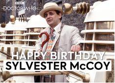 Happy Birthday, Sylvester McCoy Sylvester Mccoy, Doctor Who, Happy Birthday, Baseball Cards, Happy Brithday, Urari La Multi Ani, Happy Birthday Funny, Happy B Day, Happy Birth