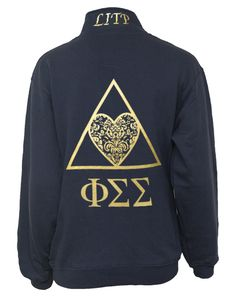 11401_phi-sigma-sigma-crest-half-zip-back. I wish they had this cute of stuff when I was an active