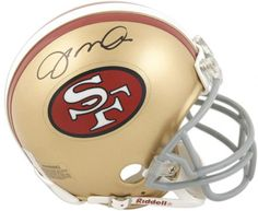 f7cece46c Joe Montana San Francisco 49ers Autographed Throwback Riddell Mini Helmet