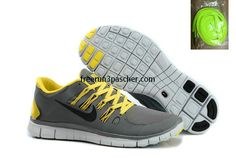 buy cheap  Pas Cher Nike Free Run+ 4 Hommes Anthracite Pure Platinum Refect argent Jaune,top quality shoes onsale just: $46.99