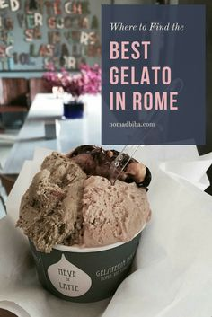 Check these 14 great places to get the best gelato in Rome | Europe Travel | Italy Travel | Rome Travel | Rome Food | Things to Do in Rome | City Breaks | What to Do in Rome Italy | Rome Food Guide