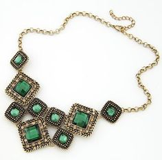 2016 Fashion Collar Power choker Vintage Bohemian necklace pendant Gold Plated Chain ethnic gem maxi Necklace Women fine jewelry