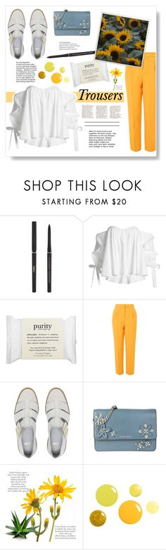 """Old Yellow Bricks - Arctic Monkeys"" by nxive ❤ liked on Polyvore featuring Yves Saint Laurent, Caroline Constas, philosophy, Topshop, ASOS and MICHAEL Michael Kors"
