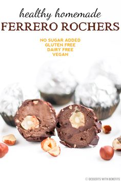 Healthy Homemade Ferrero Rochers recipe (with a secret ingredient!) - Healthy Dessert Recipes at Desserts with Benefits