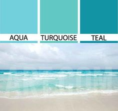 Ocean Blues: Aqua Turquoise and Teal... http://www.completely-coastal.com/2017/05/Turquoise-decor-ideas-bedroom.html