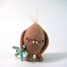 Gorgox by Kit Lane, via Behance great monster plushie with bunny teddt idea cool soft toy for boys Needle Felted Animals, Felt Animals, Wet Felting, Needle Felting, Softies, Monster Toys, Ugly Dolls, Cute Monsters, Felt Toys