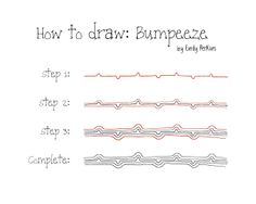 "How to draw ""Bumpeeze"" 