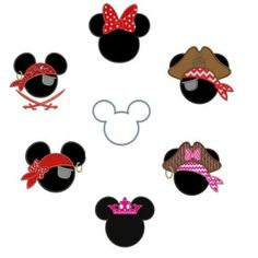 45% OFF Mickey Ears & Minnie Ears Applique Collection machine embroidery digitized design pattern - Instant Download -4x4 , 5x7, and 6x10