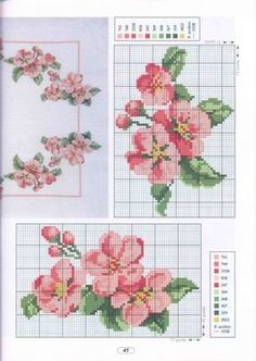 Borduurpatroon Bloem- Plant- Dier *Cross Stitch Flower- Plant- Animal ~Bloesem~