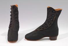 Boots Date: 1865–75 Culture: American Medium: wool Dimensions: 6 1/2 x 7 in. (16.5 x 17.8 cm)