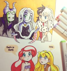 Young and Pretty Disney Villains