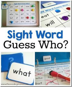 FREE!! Guess Who? Sight Words Game. This is such a clever free printable game for Preschool, Kindergarten, and 1st grade kids to practice key dolch sight words.