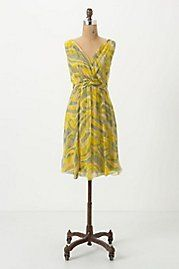 Buffed Chiffon Dress | Anthropologie