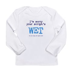 Wet Script - humor Long Sleeve T-Shirt