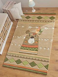 Dieser wunderschöne Teppich ist ein abenteuerliches Highlight im Kinderzimmer. Kinderteppich Wildlife Bär entführt mit seinem Design in die aufregende Welt der Indianer und regt die Fantasie des Kindes an. Der süße Bär läuft auf seinen...