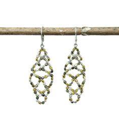 Metallic Lattice Earrings - WorldFinds