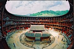 An internal view of the Circular Residence (Tulou) in Fujian Province