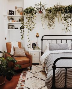 "2,156 Likes, 48 Comments - domino (@dominomag) on Instagram: ""Tag someone who would love these boho bedroom vibes, courtesy of @branchabode. #SOdomino"""