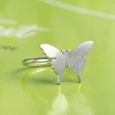 Silver Butterfly Ring, Handmade 925 Silver Ring, Handmade Sterling Silver Jewelry, Bridesmaid ring, Bridal, Wedding, Teenage, Gift #handmade #gifts