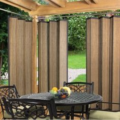 Easy Glide Indoor Outdoor Patio Bamboo Ring Top Window Curtain Panel Espresso in Home & Garden, Window Treatments & Hardware, Curtains, Drapes & Valances Outdoor Gazebos, Outdoor Privacy, Outdoor Rooms, Indoor Outdoor, Outdoor Living, Outdoor Decor, Outdoor Curtains For Patio, Balcony Privacy, Outdoor Blinds
