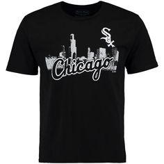 Chicago White Sox Majestic Threads City Skyline Softhand Tri-Blend T-Shirt - Black - $25.59