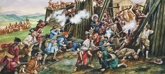 Storming Of The Fortress Of Neoheroka is a painting by Ron Embleton which was uploaded on July Native American Tribes, American War, Seven Years' War, Historical Architecture, American Revolution, North America, Nativity, French, Art Prints