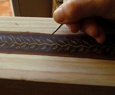 TeoStudio Handbound Journals: Jacek's Book: Painting the Book Block Edges