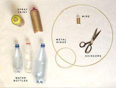 Klusmaterialen om zelf plastic #kunstbloemen te maken.