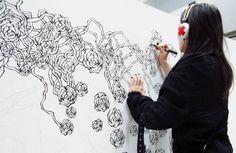 Black and white artwork in progress. 白黒描き中 Design Festa