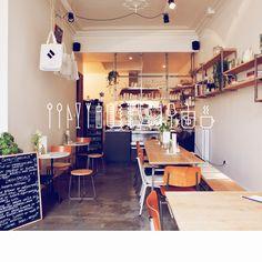 For coffee/tea and breakfast: T/I/N/S/E/L - Vlaamse Kaai 2000 Antwerpen Cafe Bar, Cafe Restaurant, Cafe Bistro, Cafe Shop, Bakery Cafe, Restaurant Design, Cafe Menu, Cafe Interior Design, Cafe Design