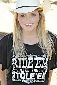8a50bd5663c3 Ride  em Like You Stole  em Slouchy Tee at Cowgirl Blondie s Dumb Blonde  Boutique