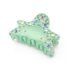 Bejeweled Starfish Hair Claw - Green. #HairClaws #HairAccessories