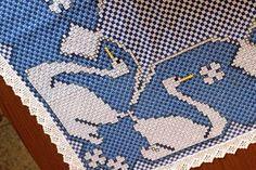 Resultado de imagen para toalha xadrez bordada