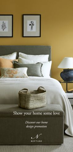 Living Room Decor, Bedroom Decor, Bedroom Ideas, Master Bedroom, Wall Decor, Grey Kitchen Designs, Bathroom Designs, Small Cottage Interiors, Neptune Home