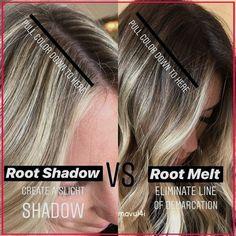 Blonde Roots, Brown Blonde Hair, Dark Roots, Black Hair, Shadow Root Blonde, Root Smudge Blonde, Shadow Root Hair, Cabelo Inspo, Redken Hair Products