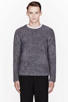 T BY ALEXANDER WANG GREY FLUFFY Sweater