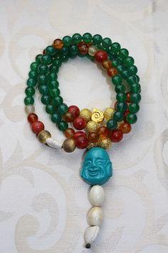 Grüne Buddha Glücks Mala