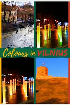 Check out the colourful little Baltic city of Vilnius in Lithuania. Discover the old world charm and cobbled streets of the Vilnius old town. Then find some modern street art pretty lights. The quiet capital of Vilnius will leave you wanting more. #europe #lithuania #vilnius #oldtown #colourful #travel #budgettravel