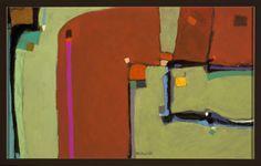 """Wayne Salge """"Rust"""" 17"""" x 27"""" Acrylic"""