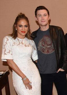 Idol event - TCA (Television Critics Assoc)-with JLo Scotty Mccreery, American Idol, Ruffle Blouse, Fans, Country, Tv, Friends, Music, Christmas