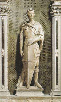 San Giorgio, Donatello, 1415-1417, scultura in marmo, Firenze, Museo Nazionale del Bargello