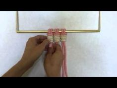 Macrame - How to tie Vertical Clove Hitch Knots - YouTube
