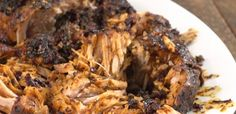 Slow cooked pork loin in honey balsamic sauce. Watch the video! Yum.