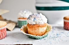 angel food cupcakes. these look amazing and fluffy!