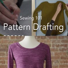 Learn how to draft your own apparel pattern using an existing garment!