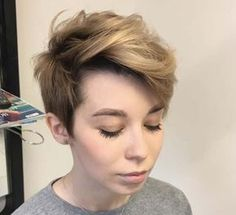 side parted pixie