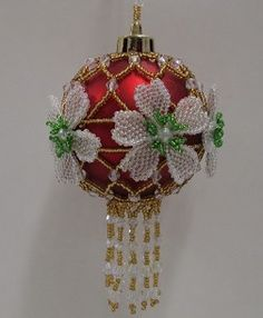 2013 Christmas Rose Bauble Instructions
