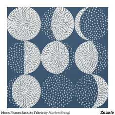 Moon Phases Sashiko Fabric