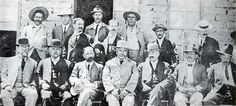 Madero's staff before the fall of Ciudad Juarez. Front row, left to right: Venustiano Carranza, Francisco Zásquez Gómez, Francisco Madero, Abraham González, ...